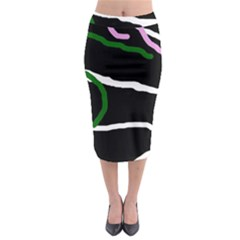 Decorative lines Midi Pencil Skirt