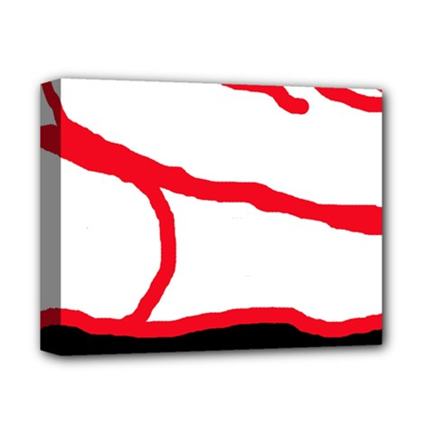 Red, black and white design Deluxe Canvas 14  x 11