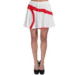 Red, black and white design Skater Skirt