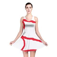 Red, black and white design Reversible Skater Dress