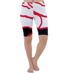 Red, black and white design Cropped Leggings