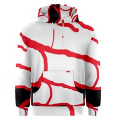 Red, black and white design Men s Pullover Hoodie