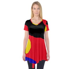 Colorful abstraction Short Sleeve Tunic