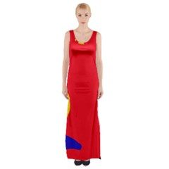Colorful abstraction Maxi Thigh Split Dress