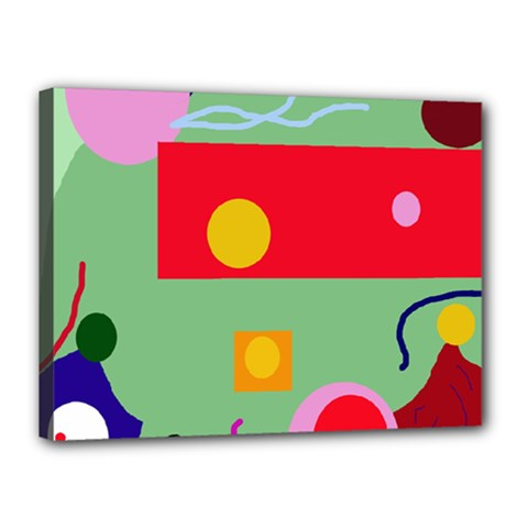 Optimistic abstraction Canvas 16  x 12