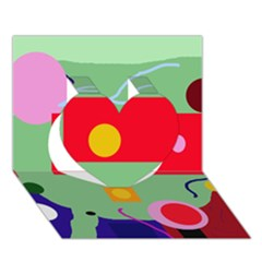Optimistic abstraction Heart 3D Greeting Card (7x5)