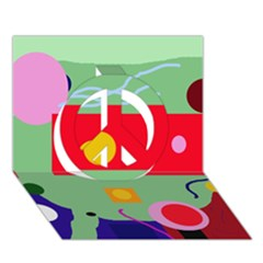 Optimistic Abstraction Peace Sign 3d Greeting Card (7x5)
