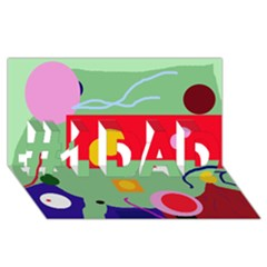 Optimistic abstraction #1 DAD 3D Greeting Card (8x4)