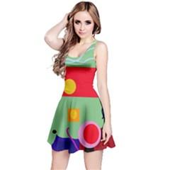 Optimistic abstraction Reversible Sleeveless Dress
