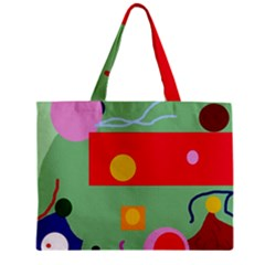 Optimistic abstraction Zipper Mini Tote Bag