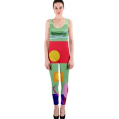Optimistic abstraction OnePiece Catsuit