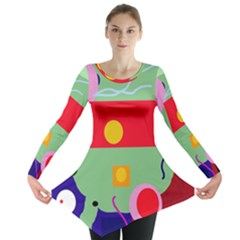 Optimistic abstraction Long Sleeve Tunic