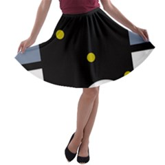 Abstract design A-line Skater Skirt