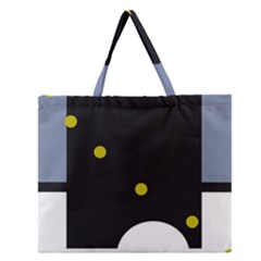 Abstract design Zipper Large Tote Bag