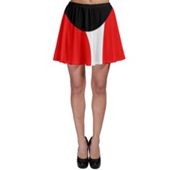 Red, black and white Skater Skirt