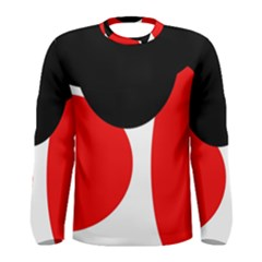 Red, black and white Men s Long Sleeve Tee