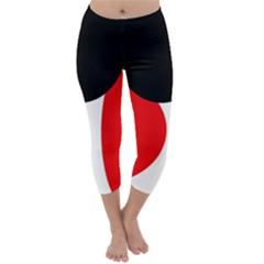 Red, black and white Capri Winter Leggings