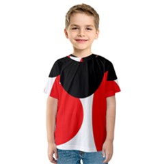 Red, black and white Kid s Sport Mesh Tee
