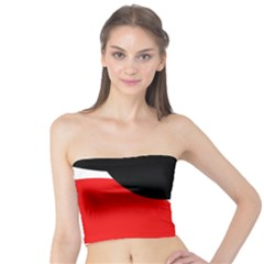 Red, Black And White Tube Top