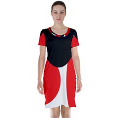 Red, black and white Short Sleeve Nightdress
