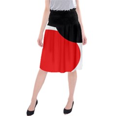 Red, black and white Midi Beach Skirt
