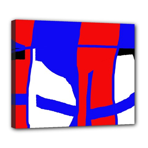 Blue, red, white design  Deluxe Canvas 24  x 20