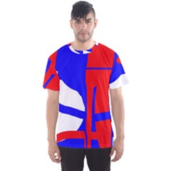Blue, red, white design  Men s Sport Mesh Tee