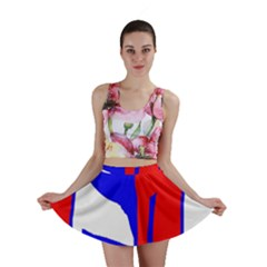 Blue, red, white design  Mini Skirt