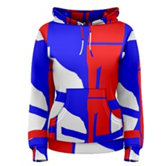 Blue, red, white design  Women s Pullover Hoodie