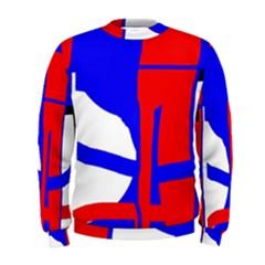 Blue, red, white design  Men s Sweatshirt