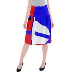 Blue, red, white design  Midi Beach Skirt