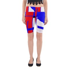 Blue, red, white design  Yoga Cropped Leggings