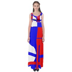 Blue, red, white design  Empire Waist Maxi Dress
