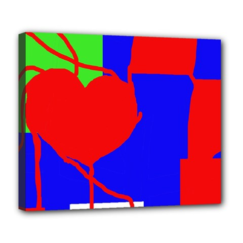 Abstract hart Deluxe Canvas 24  x 20