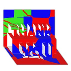 Abstract hart THANK YOU 3D Greeting Card (7x5)