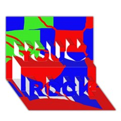 Abstract hart You Rock 3D Greeting Card (7x5)