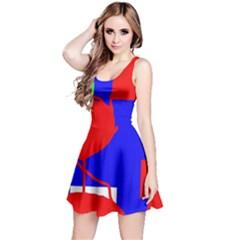 Abstract hart Reversible Sleeveless Dress
