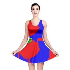 Abstract hart Reversible Skater Dress