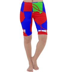 Abstract hart Cropped Leggings