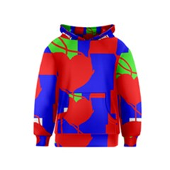 Abstract hart Kids  Pullover Hoodie