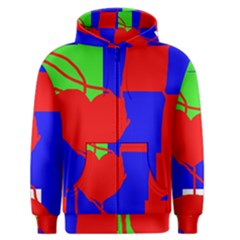 Abstract hart Men s Zipper Hoodie