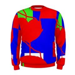 Abstract hart Men s Sweatshirt