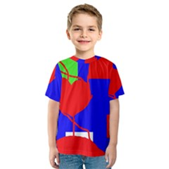 Abstract hart Kid s Sport Mesh Tee