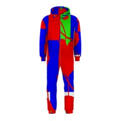 Abstract hart Hooded Jumpsuit (Kids)