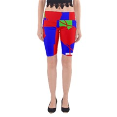 Abstract hart Yoga Cropped Leggings