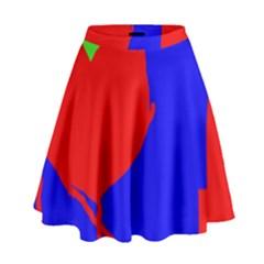 Abstract Hart High Waist Skirt