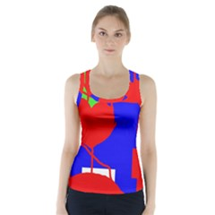 Abstract Hart Racer Back Sports Top
