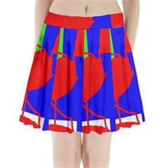 Abstract Hart Pleated Mini Mesh Skirt