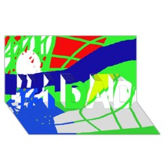 Colorful abstraction #1 DAD 3D Greeting Card (8x4)