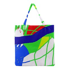 Colorful abstraction Grocery Tote Bag
